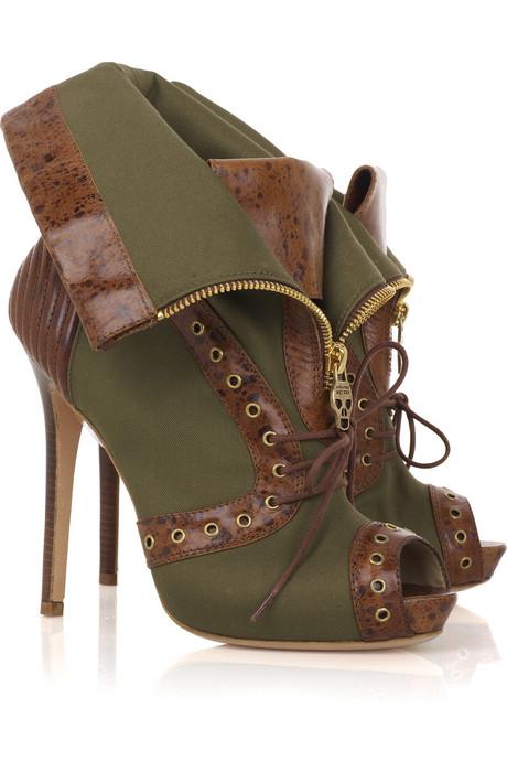 alexander mcqueen peep toe boots