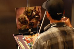 Blizzcon || Orc Painting, World of Warcraft (David Flatter) Tags: california costumes music us