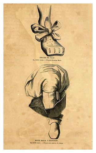 008 Calzado del siglo XVII-2-Histoire de la chaussure depuis l'antiquité-1862- Paul Lacroix y Alphonse Duchesne