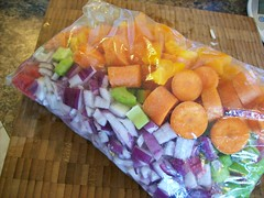 2010/28/04 (yummysmellsca) Tags: wood food hot chicken cooking project recipe pepper ginger salad rainbow colours curry blogger fresh garlic blogged chopped carrots onion spicy 365 veggies colourful freezer jamaican celery redpepper prep habanero redonion cuttingboard diced fordad orangepepper scotchbonnet project365 workahead tofreeze whatsmellssogood