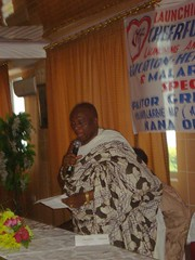 "The Local Chief ( Chairman of the Launching) delivering his message during the fundraising at the Royal Dede Caesar Hotel • <a style=""font-size:0.8em;"" href=""http://www.flickr.com/photos/48668870@N02/4565212607/"" target=""_blank"">View on Flickr</a>"