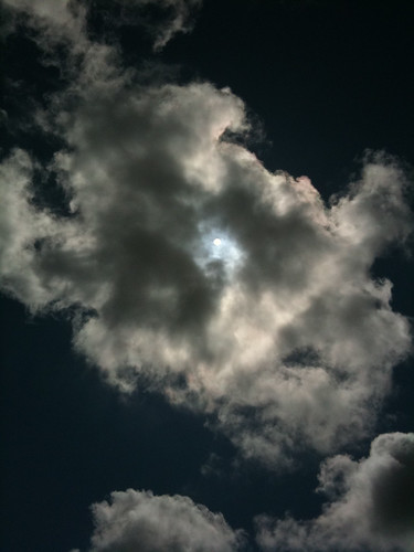 Cloud across the sun