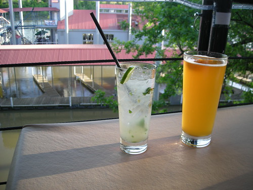 Ginger Mojito and beer