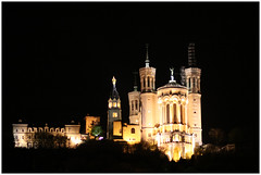 Just Fourviere - Lyon, France (Jaafar Mestari) Tags: light france building architecture night canon eos construction lyon may cropped untouched nuit immeuble batiment 2010 noediting quais canonef85mmf18 saone reframed 50d justcropped canoneos50d