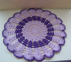 Lilac & Purple Crochet Doily (sophiecat91) Tags: thread crochet handcrafted tablemat crochetdoily