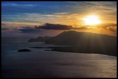 Sunset over Croaghaun, Achill