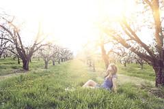 poppyopera (yyellowbird) Tags: trees sunlight girl oregon lights spring orchard cari thxjh
