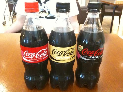 コカ・コーラ 三種
