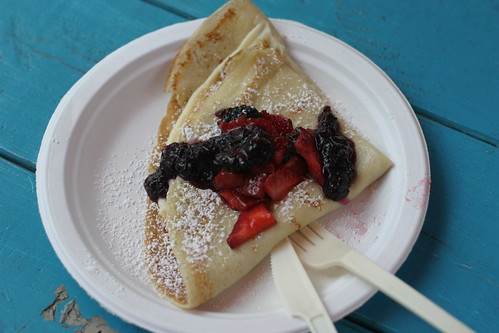 Vanilla pastry cream & berries crepe from Flip Happy