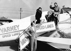 Lockheed : 9 : Orion (San Diego Air & Space Museum Archives) Tags: sdasm aviation aeronautics varney airlines airline lockheedorion lockheed9orion lockheed varneyspeedlanes