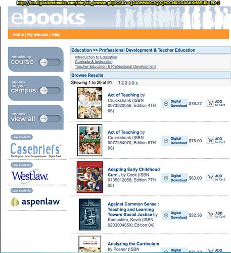 eBooks on bn,digitaltextbooks.com