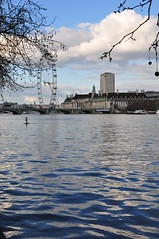 River Thames and the London Eye (David Dawson Photography) Tags: uk england london westminsterabbey thames housesofparliament londoneye bigben canarywharf onecanadasquare