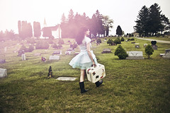 (yyellowbird) Tags: girl cemetery dress courtney suitcase anastasiachatzka