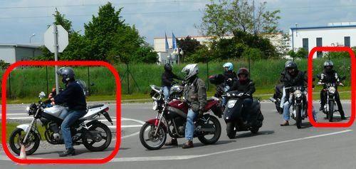 Meine Eltern beim Motorradtraining