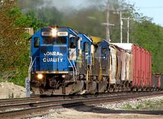 Q334-15 with CSXT 8812 (amtrak_russ) Tags: railroad ex canon is still michigan quality may grand trains it powershot rapids treat seymour scheme today has csx conrail sd402 csxt 8812 sx1is q33415