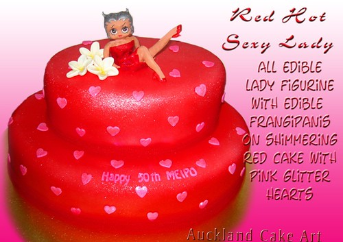Outstanding Red Hot Sexy Lady Birthday Cake New Zealand A Photo On Flickriver Funny Birthday Cards Online Alyptdamsfinfo