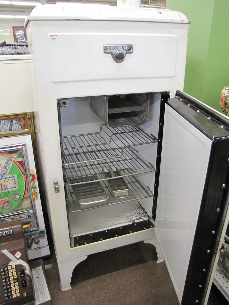 Vintage Westinghouse fridge at Goodwill