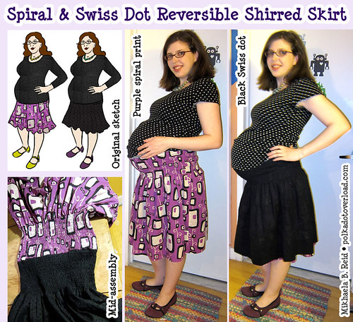 Finished: My Reversible Shirred Skirt! (36 weeks pregnant)