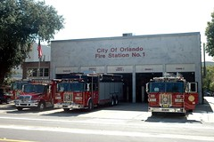 Orlando Fire Department. Station 1. The Big House. (RJACBclan) Tags: firetrucks fireengines ofd firestations sutphen orlandofiredepartment orlandofireengines orlandofiretrucks orlandofirestations