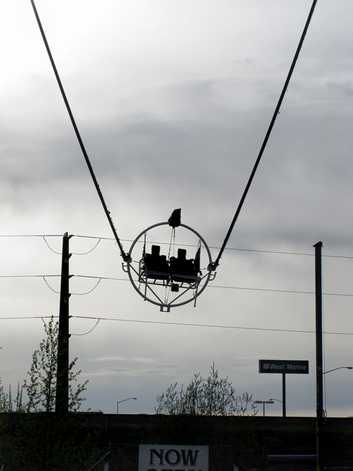 empty bungee jump ride, Anchorage, Alaska