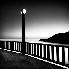 i (maxxsmart) Tags: sanfrancisco california longexposure light sunset blackandwhite bw inspiration texture bike contrast canon spring grain smooth may windy goldengatebridge bayarea marincounty handrail marinheadlands clearsky 1x1 2010 michaelkenna gnd ndgrad ef1740f4lusm westsidewalkway 5dmarkii goldengatebridgestudy16 lee69ndgrads