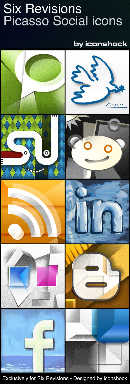 Picasso: A Free Social Media Icon Set