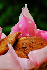 Friends are Chips chocolate :P (Albatoul.H) Tags: morning pink friends cookies breakfast garden cookie basket chocolate chips