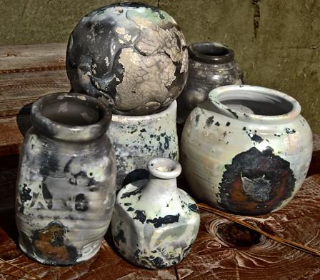 Barrel-fired pots