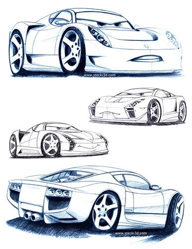 pixar cars mater. Pixar Cars: Giovanni sketches