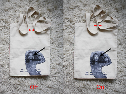 Closure-Sensitive Tote Bag