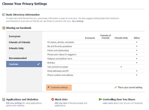 The new Facebook privacy settings