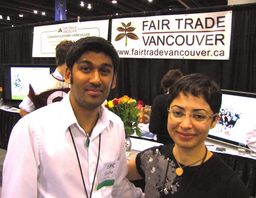 Vancouver Convention Centre EPIC Expo, Sasha Caldera and Rogayeh Tabrizi at Fair Trade Vancouver