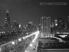 South Loop | State Street Mono (Christopher James Botham) Tags: longexposure chicago tower skyline night train illinois downtown cityscape loop dusk sears searstower el panoramic southloop statestreet aon willis att aoncenter boardoftrade cbot 311southwacker willistower