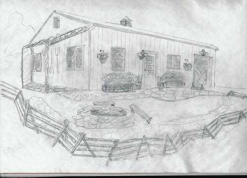 pennsylvania barn sketch