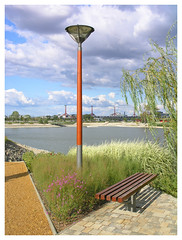 Kopaszi gt - lamp and bench (Romeodesign) Tags: park bridge lamp architecture bench bay hungary dam budapest duna peninsula hd lgymnyos lgymnyosi gt kopaszi jbuda bl gettyhungary1