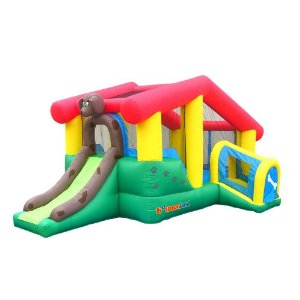 Bounceland Puppyland Inflatable Bounce House Bouncer With Slide