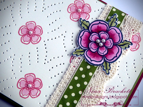 Stencile Flowering Gems Close up
