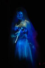Walt Disney World - Magic Kingdom (Thessair) Tags: bride disneyworld attic wdw waltdisneyworld hm constance mk magickingdom hauntedmansion libertysquare