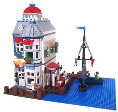 Lands End Seafood and Crab House (lgorlando) Tags: lighthouse fish dock lego crab modular seafood greengrocer cafecorner