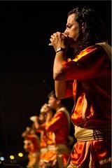 Conch Shells ~ All in a Row (Ursula in Aus) Tags: portrait india man male night dark hand indian prayer goddess priest ganga ganges aarti ghat dasaswamedh arati aarati varanasiindia dasaswamedhghat earthasia