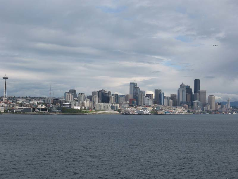 Seattle skyline from the pier