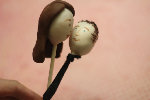 Reese and Nicole Cake Pop Kiss