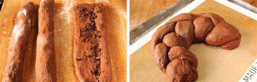 choc dough storyboard for Chocolate Braid