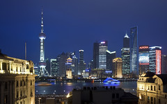 Shanghai from Captain Hostel (Sarmu) Tags: china city light sunset wallpaper urban building skyline architecture night skyscraper river lights twilight highresolution downtown cityscape view skyscrapers shanghai nightshot widescreen landmark icon 1600 highdefinition resolution 1200 cbd hd bluehour wallpapers   pudong iconic   bund jinmao 1920 jinmaotower vantage 2010 pearltower vantagepoint ws thebund orientalpearltower 1080 1050   720p lujiazui 1080p swfc urbanity huangpuriver 1680 720   captainhostel  2560  shanghaiworldfinancialcenter    sarmu