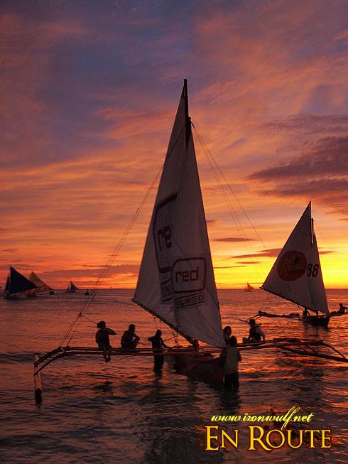 Boracay Sailboats and Sunsets
