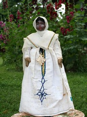 Amara from Ethiopia (Crazyquilter) Tags: africa vintage nationalcostume ethiopian clayhead 10inches copticcross 25cm africandoll clothbody internationaldoll nationalcostumedoll auntnettescollection