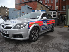 BU56ORC GDL Metropolitan Police Vauxhall Vectra Area Car in the Yard of Wimbledon Police Station (Trojan631) Tags: las blue rescue west london public geotagged fire sussex mercedes coast volvo interesting brighton order traffic 4x4 south 911 police scout surrey ambulance led east explore nhs dna operations service roads met emergency incident firefighter paramedic 112 rapid metropolitan officer v50 scania 2012 2010 response armed 999 crawley evs fordfocus v70 sprinter so19 2011 constabulary policing arv rrv uvmodular wsfrs co19 secamb metpol so6 suspol esfrs trojan631