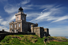 The 'new' lighthouse on the Isle of May, Fife, Scotland (iancowe) Tags: sea cloud lighthouse clouds scotland north scottish stevenson forth anstruther firthofforth isleofmay nlb wbnawgbsct