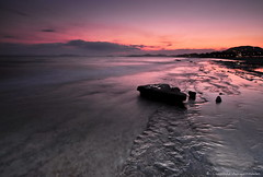 .. (Christophe_A) Tags: longexposure sunset sea sky orange beach colors rock nikon dusk tripod athens greece christophe sounio d90 widelens anavyssos christopheanagnostopoulos χριστοφοροσαναγνωστοπουλοσ χριστόφοροσαναγνωστόπουλοσ