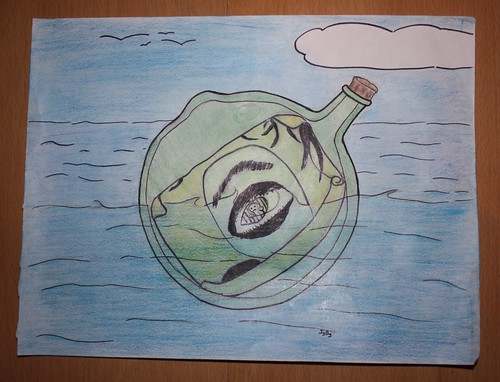 Message in a bottle, coloured